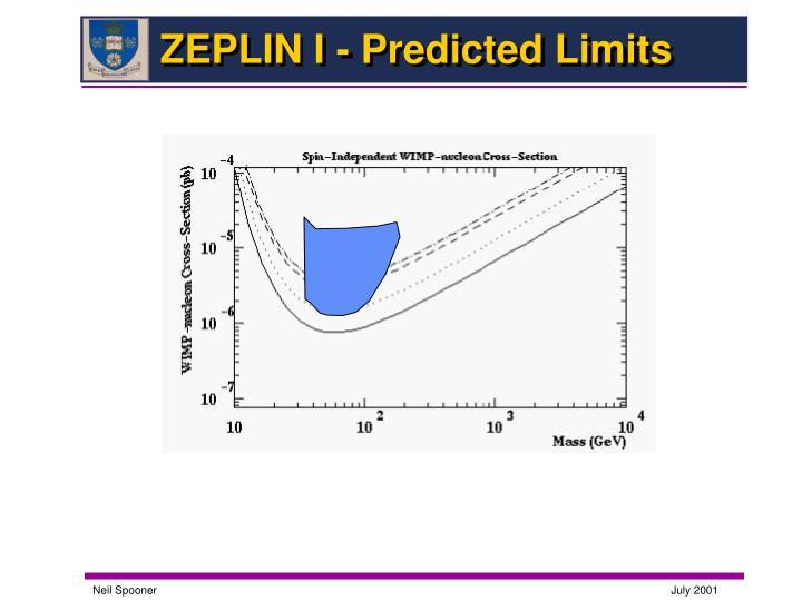 ZEPLIN I - Predicted Limits