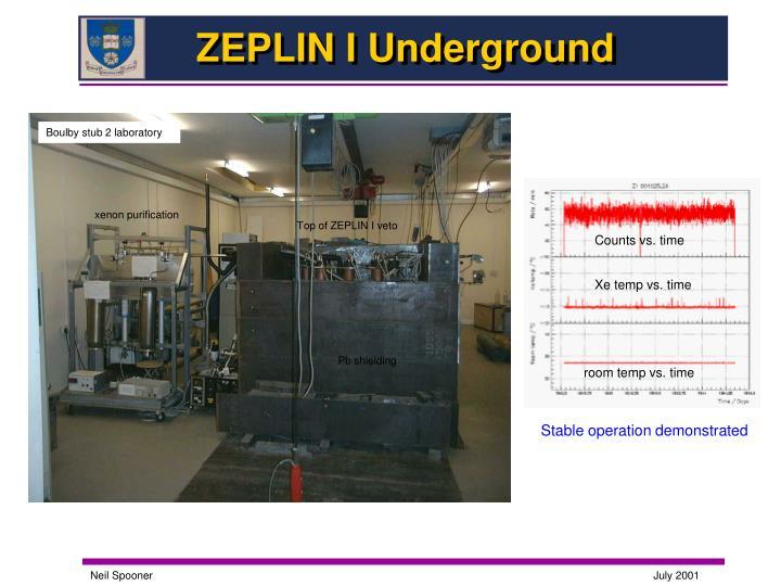 ZEPLIN I Underground