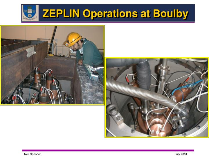 ZEPLIN Operations at Boulby