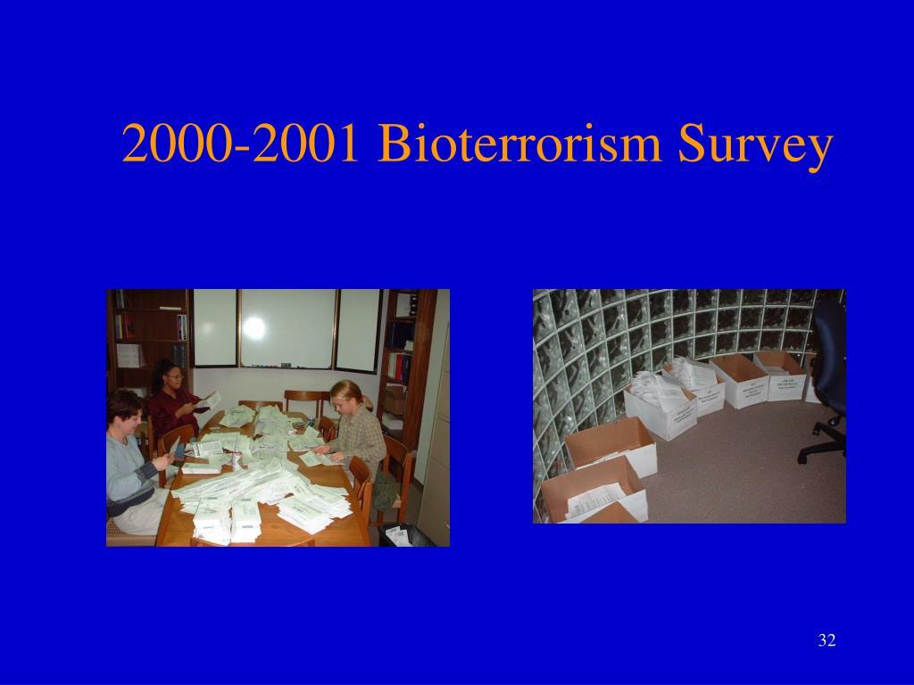 2000-2001 Bioterrorism Survey