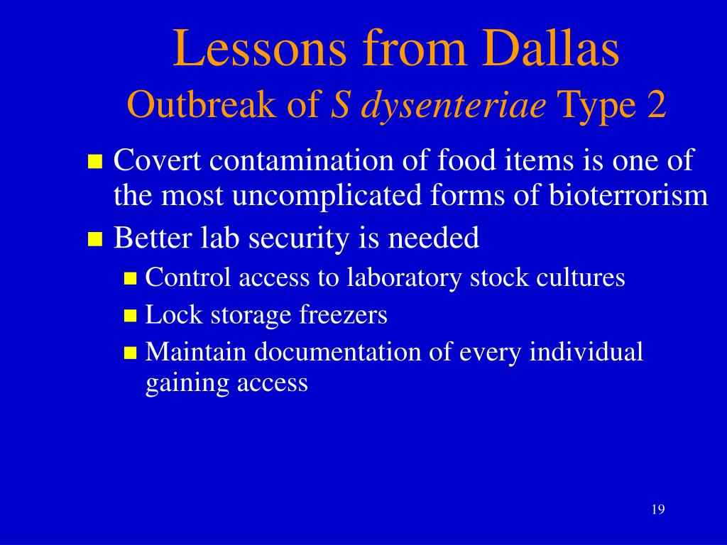 Lessons from Dallas
