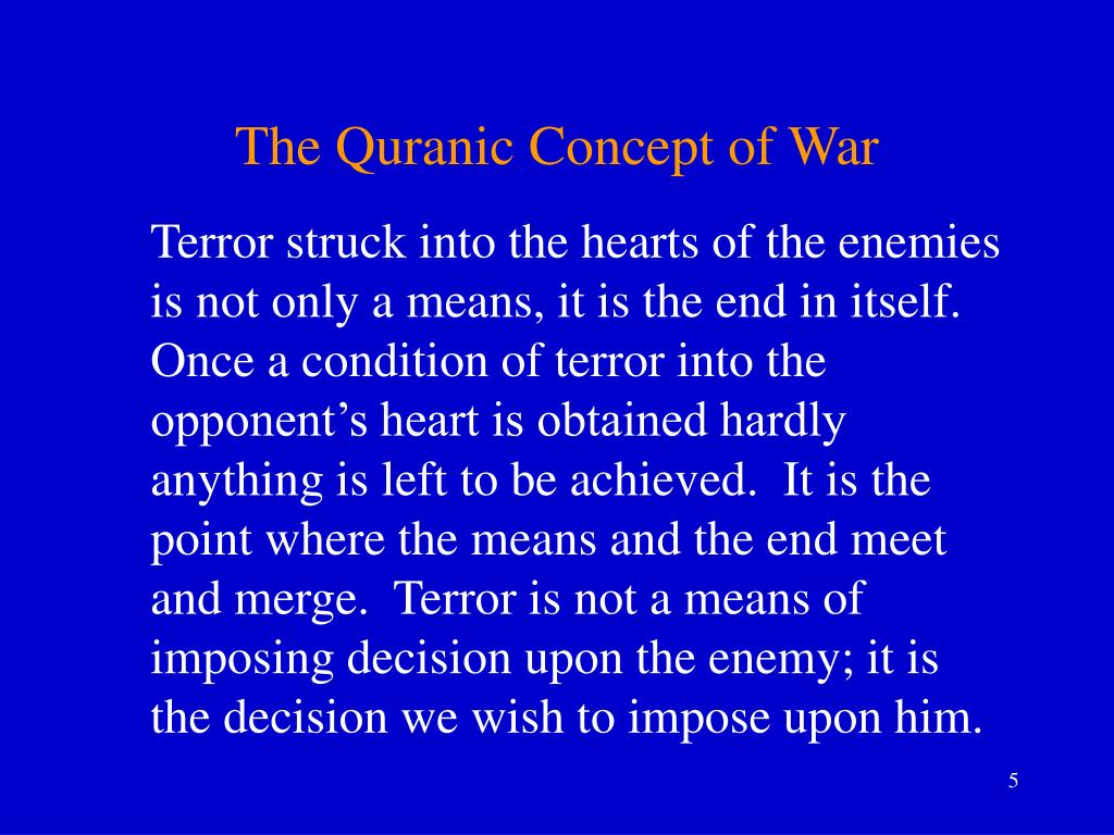 The Quranic Concept of War