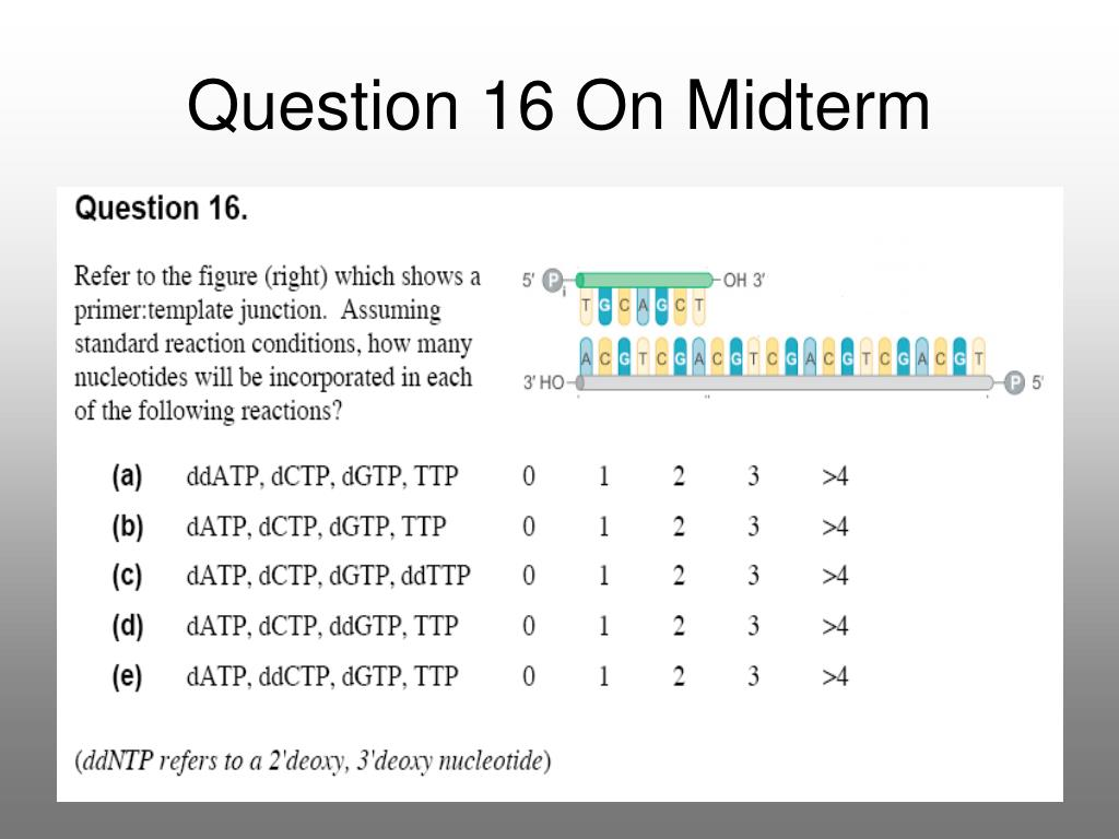 Question 16 On Midterm