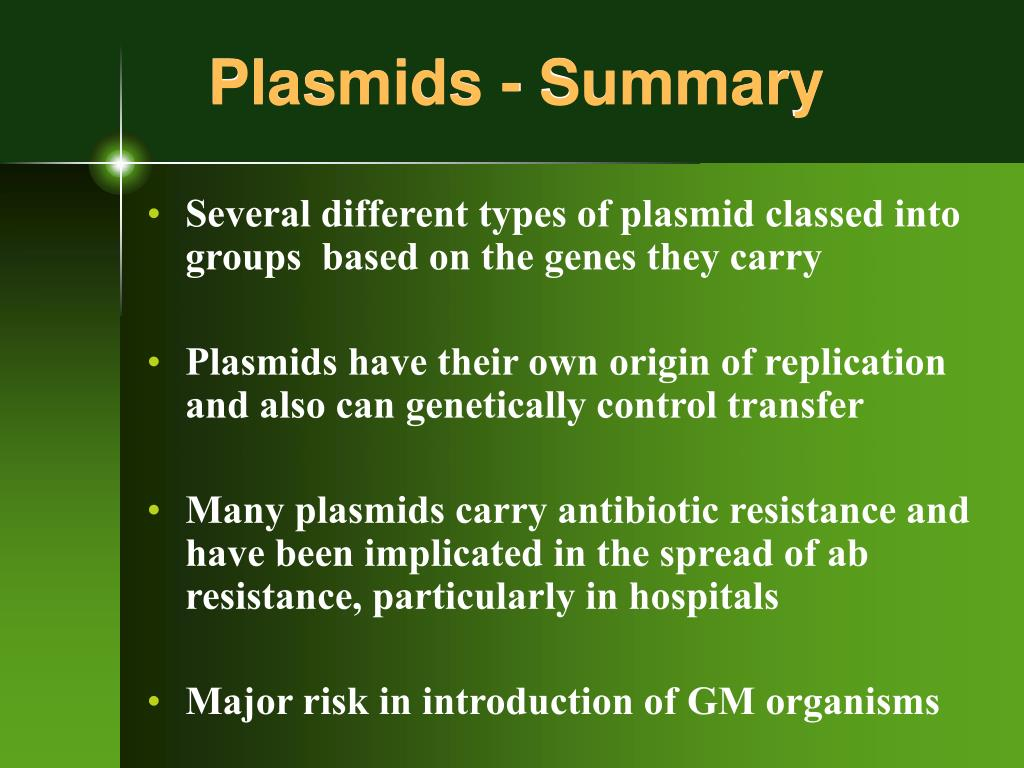 Plasmids - Summary