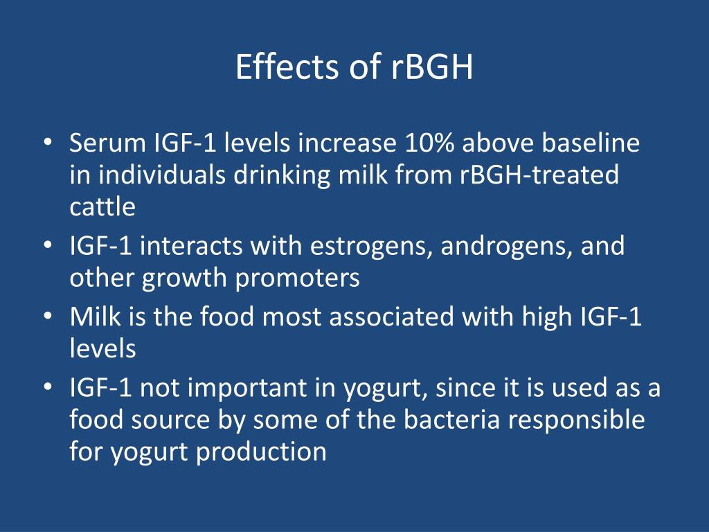 Effects of rBGH