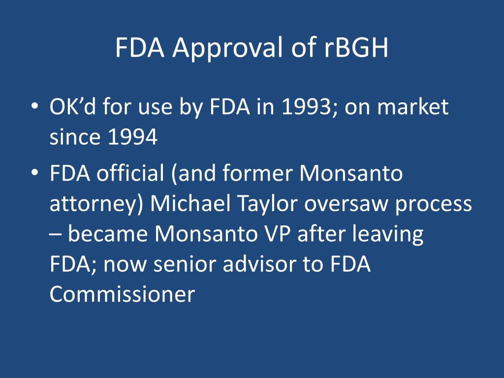FDA Approval of rBGH