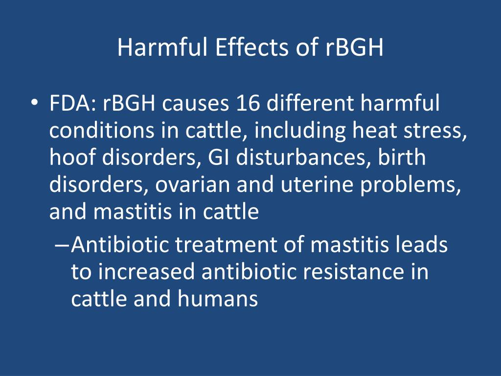 Harmful Effects of rBGH