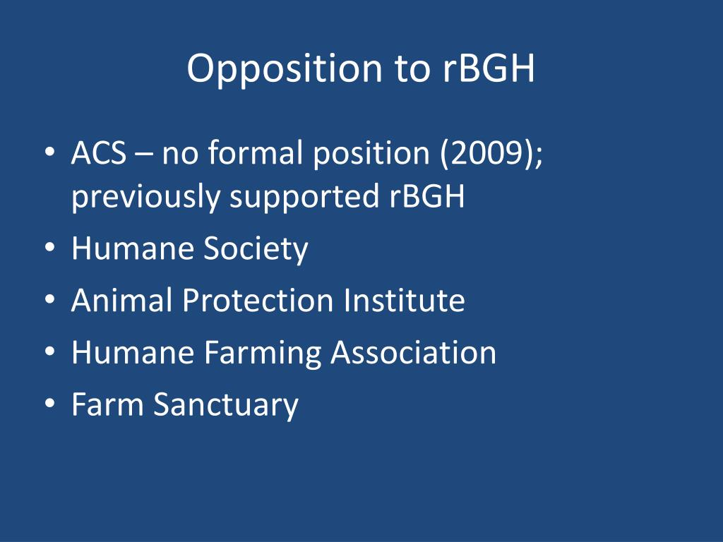 Opposition to rBGH