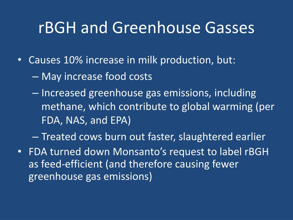 rBGH and Greenhouse Gasses