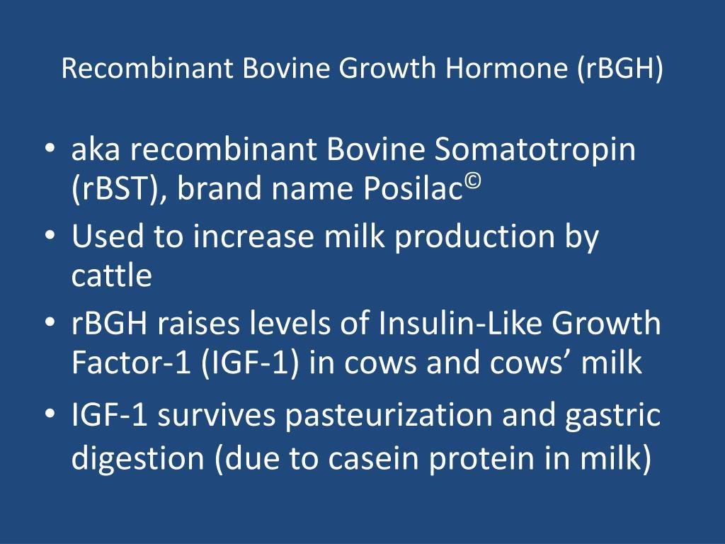 Recombinant Bovine Growth Hormone (