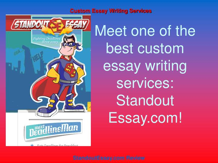 essay writting services essay writing services Complete service portfolio - uk essays provide a range of professional writing services for students of all levels.