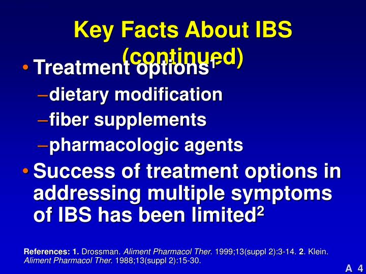 Key Facts About IBS (continued)