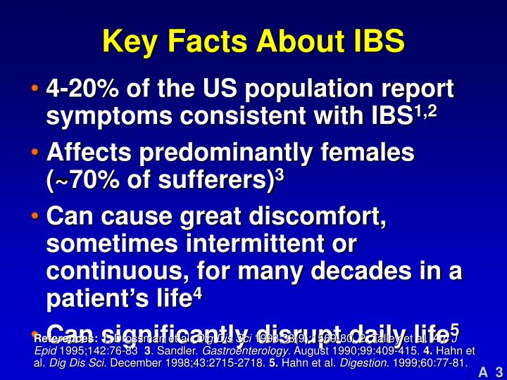 Key facts about ibs