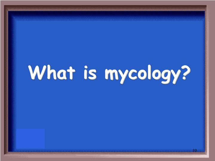 What is mycology?
