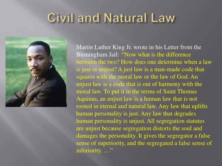 Civil and Natural Law