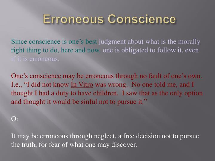 Erroneous Conscience