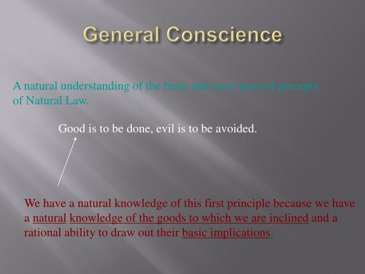 General Conscience