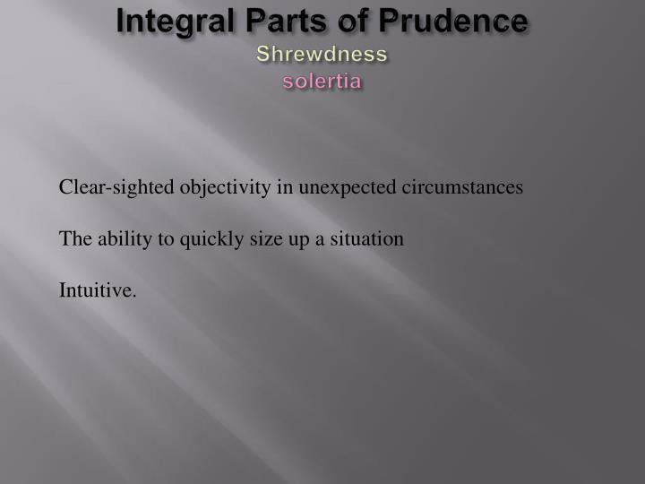 Integral Parts of Prudence