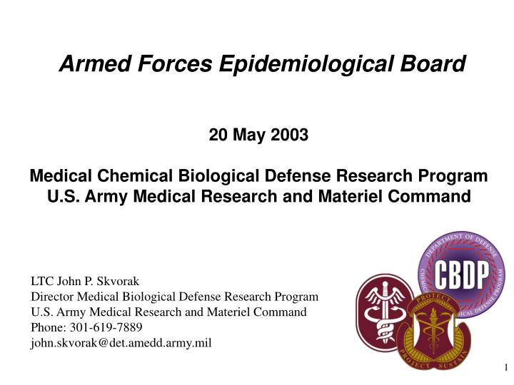 Armed forces epidemiological board