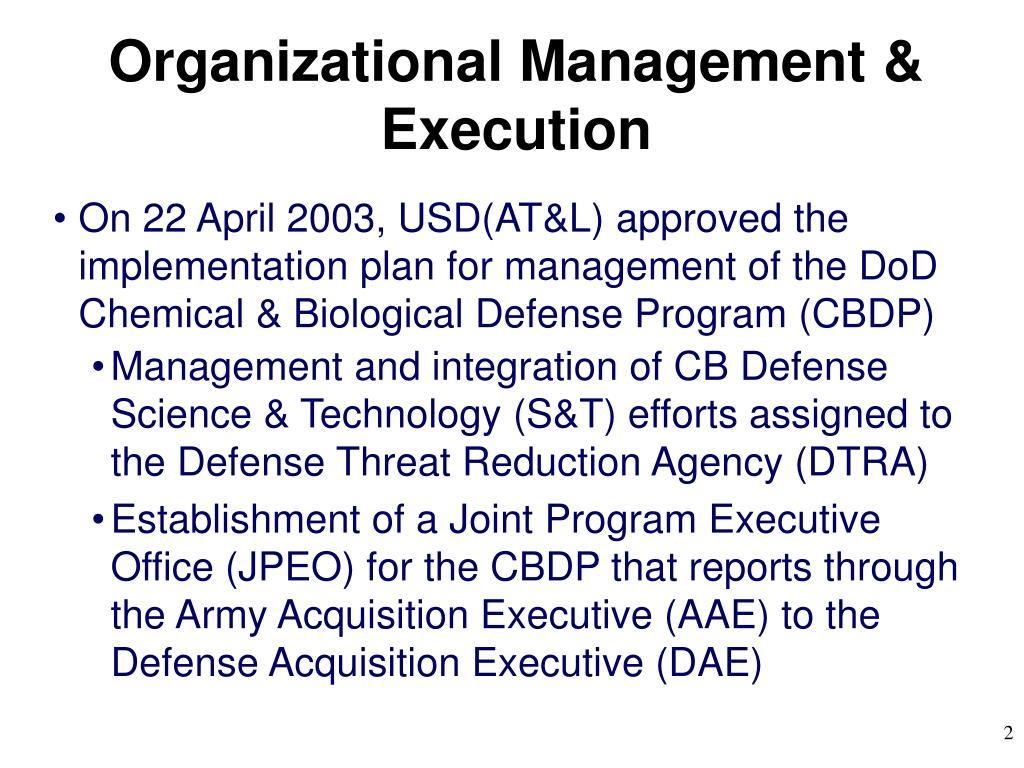Organizational Management & Execution