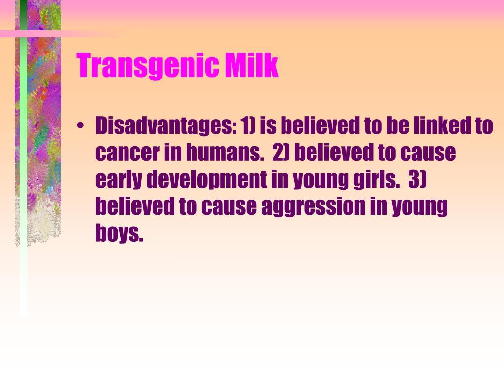 Transgenic Milk