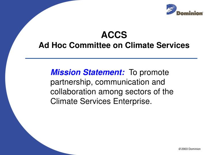 Accs ad hoc committee on climate services1