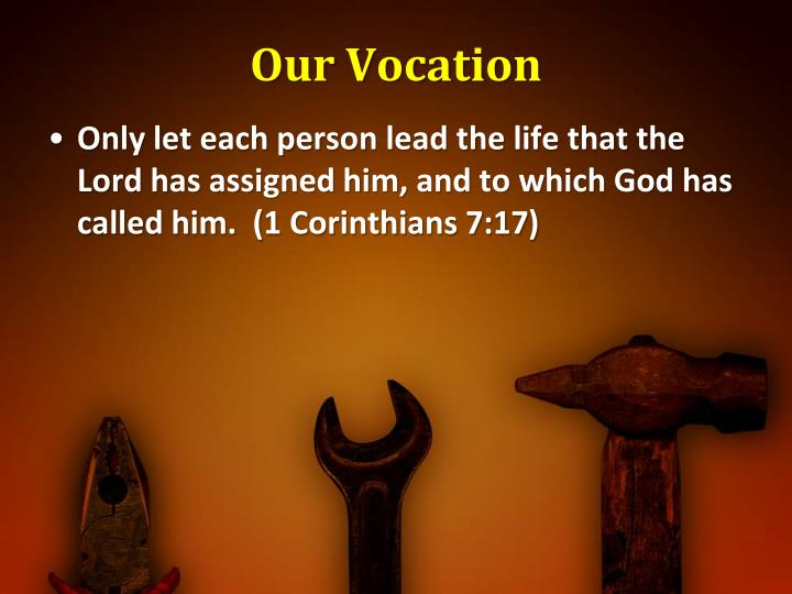Our Vocation