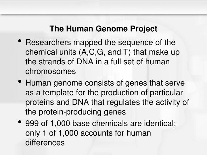 an overview of the objectives of the human genome project The human genome project, part 2 public vs private efforts to map the human genome who are the major competition for the hgp what technique is the hgp using and.