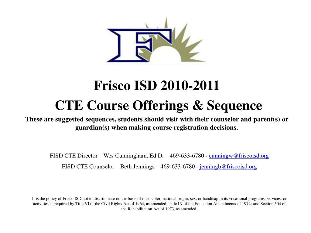 Frisco ISD 2010-2011