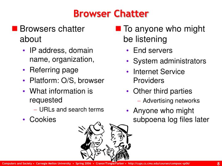 Browsers chatter about