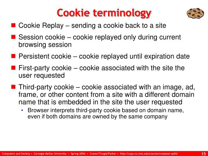 Cookie terminology