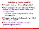 is privacy finder useful