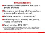 privacy policies