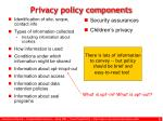 privacy policy components