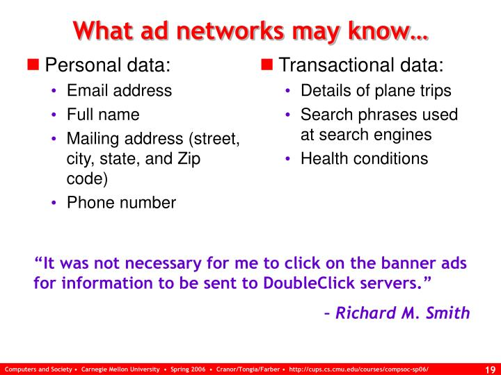 Personal data: