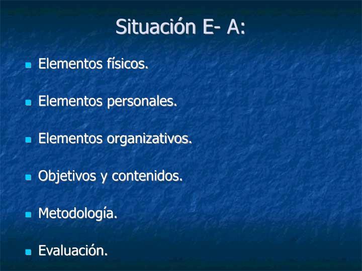 Situación E- A: