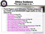 ethics guidance the right thing s to do