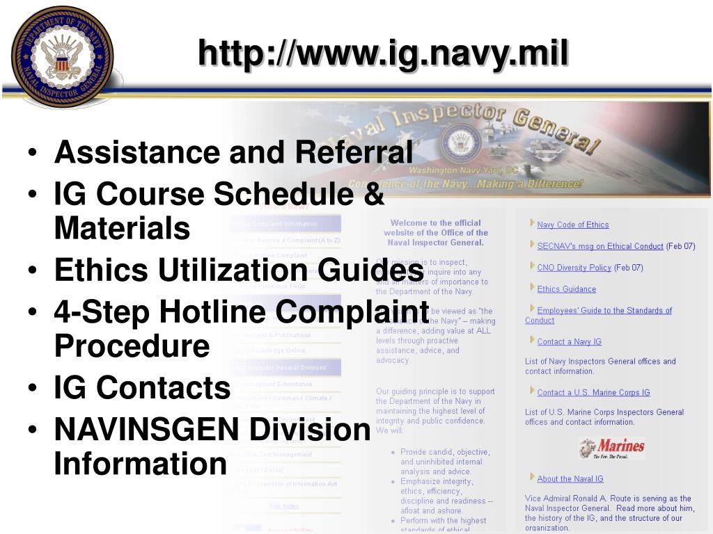 http://www.ig.navy.mil