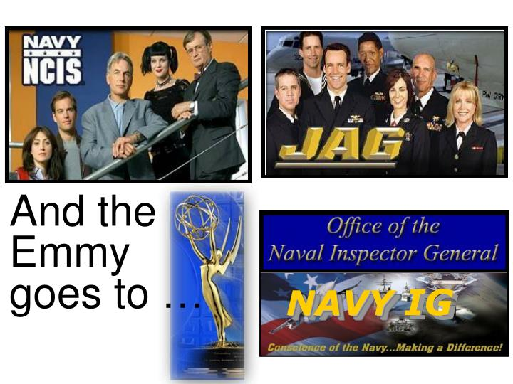 And the Emmy  goes to …