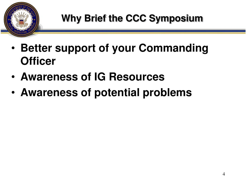 Why Brief the CCC Symposium