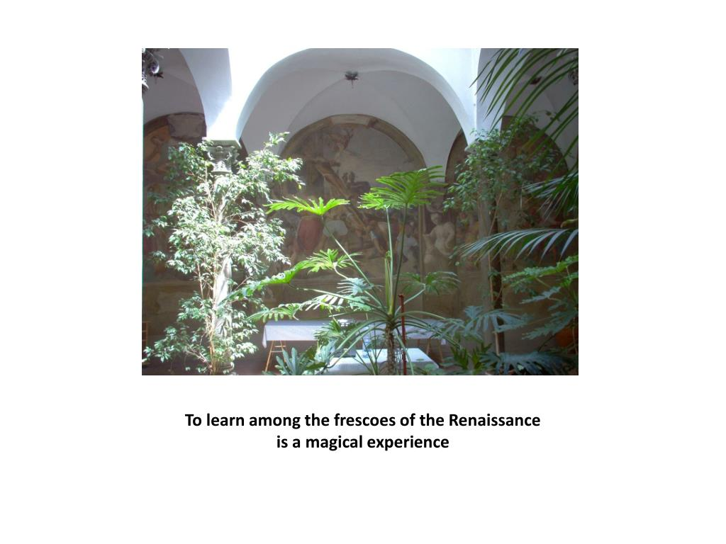 To learn among the frescoes of the Renaissance