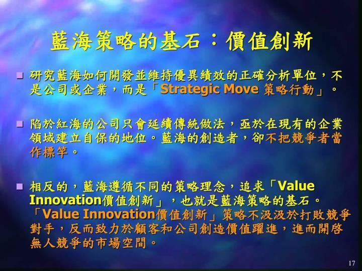 藍海策略的基石:價值創新