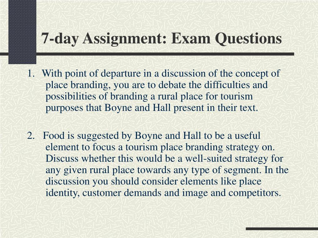 7-day Assignment: Exam Questions