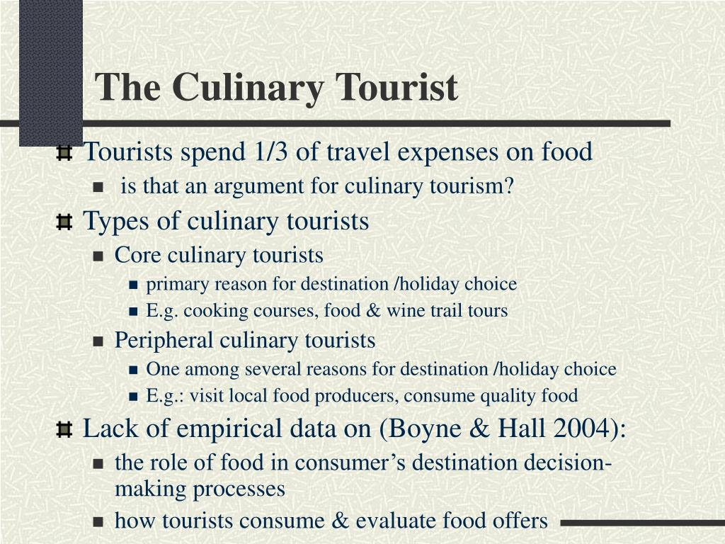 The Culinary Tourist
