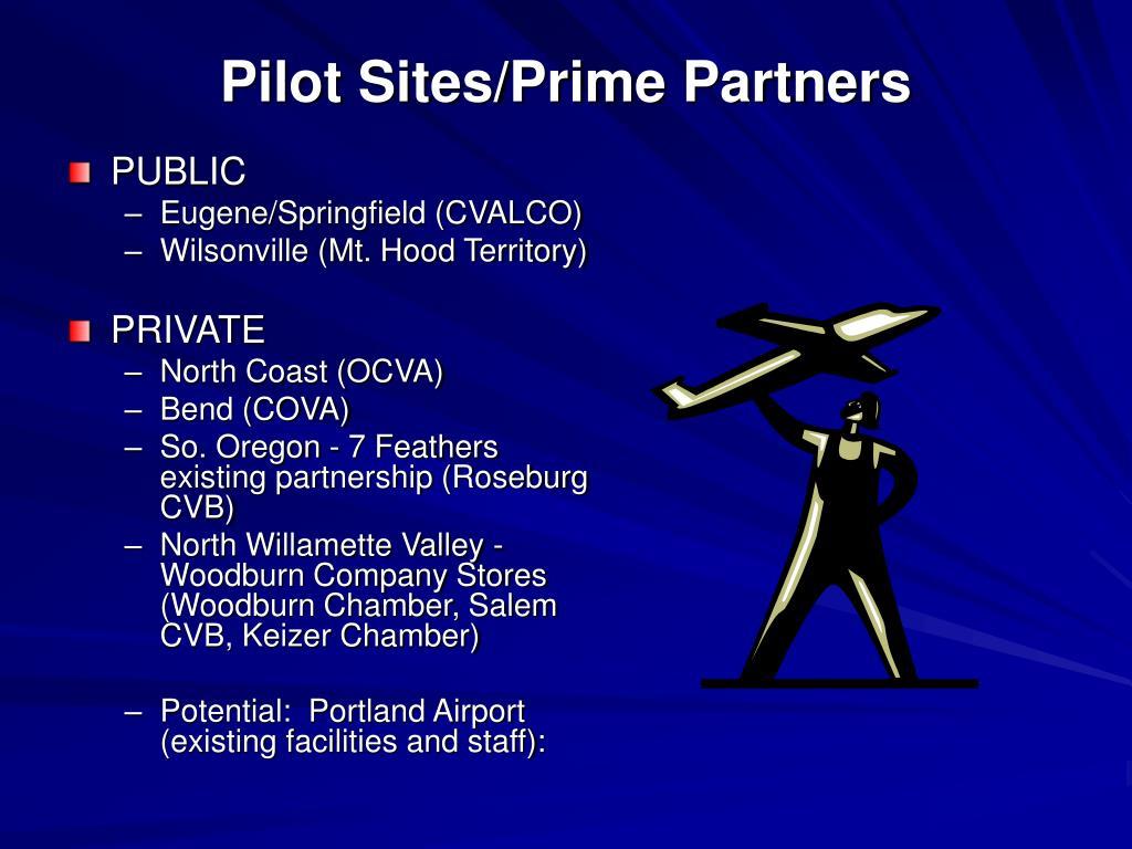Pilot Sites/Prime Partners