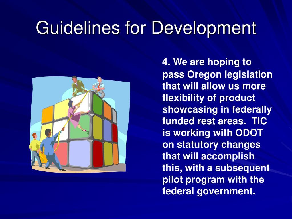 Guidelines for Development