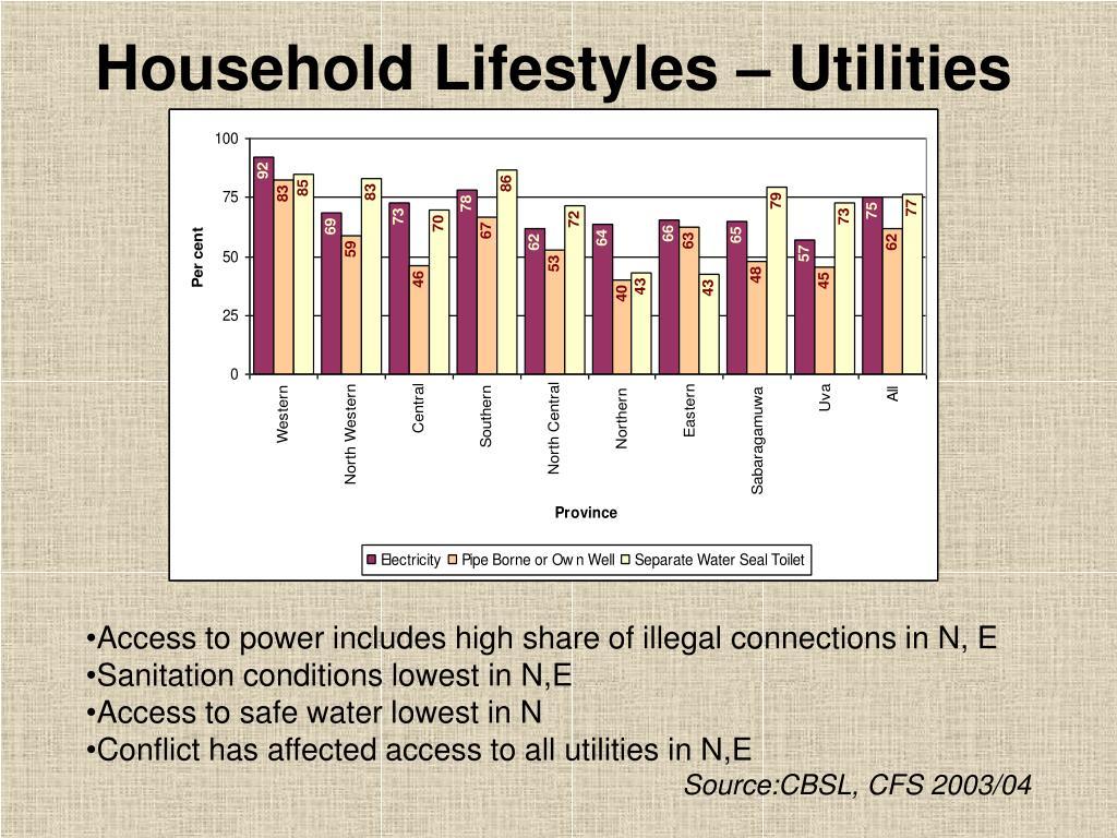 Household Lifestyles – Utilities