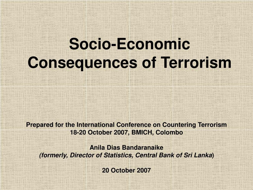 Socio-Economic Consequences of Terrorism