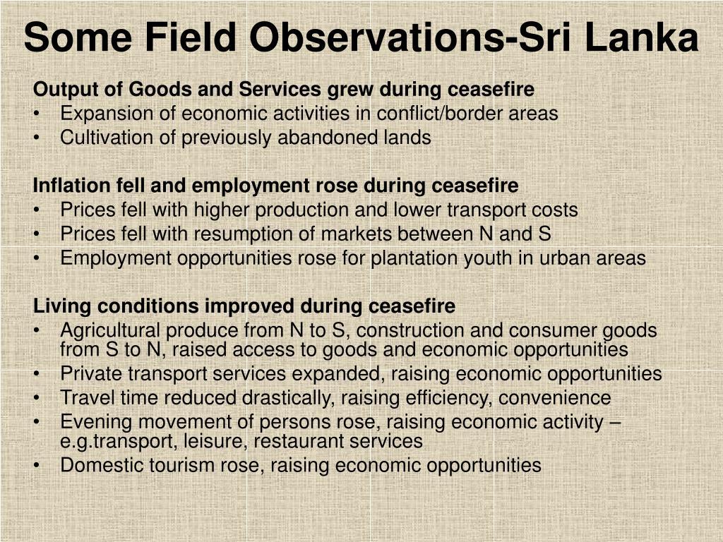 Some Field Observations-Sri Lanka