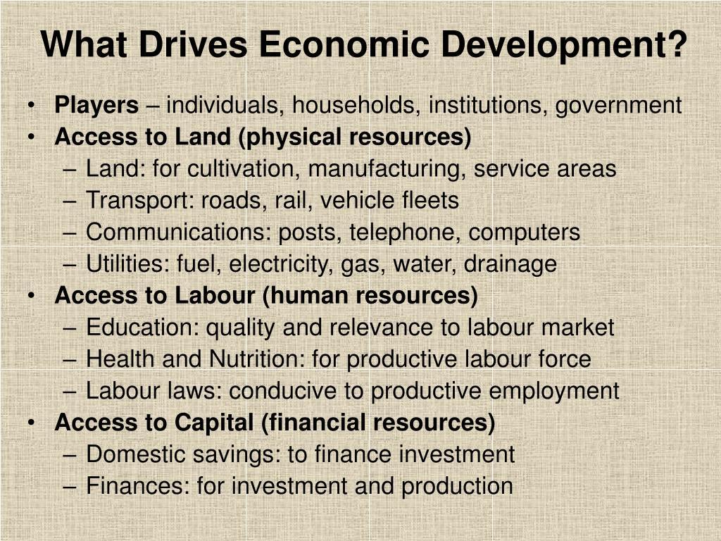 What Drives Economic Development?